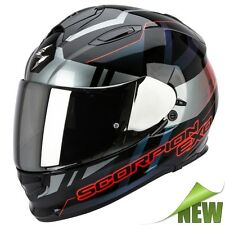 Scorpion EXO-510 AIR STAGE Motorcycle Full Face Helmet Touring black silver red