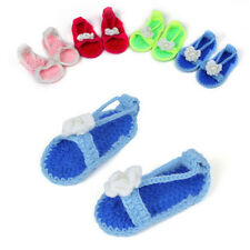 Handmade Lovely Newborn Baby Girls Crochet Knitting Toddler Booties Crib Shoes