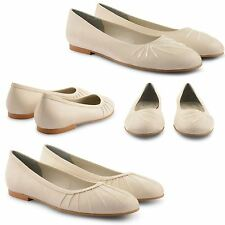 NEW LADIES CASUAL COMFORT FLATS BALLET PUMPS BRIDAL EVENING BALLERINA SHOES UK