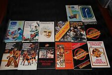 27 Vancouver Canucks NHL Media Guides 1970-2000 $5.00 and Up