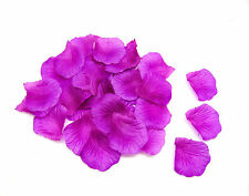 WEDDING PURPLE SILK ROSE PETALS CONFETTI- WEDDING CELEBRATIONS TABLE DECORATIONS