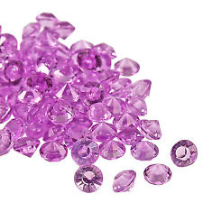 WEDDING SCATTER DIAMOND CRYSTALS TABLE DECORATIONS LILAC CELEBRATIONS CONFETTI