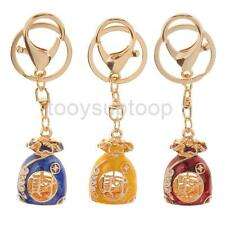 Crystal & Enamel Lucky Purse Keyring Keychain Pendant Bag Car Key Chain Holder