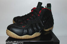 Nike Air Foamposite Pro Black Gorge Green Red Sneakers Men's Size 7 8.5 9 10 New