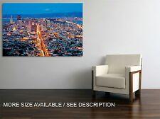Canvas Print Picture San Francisco Cityscape  Night / Stretched- ready to hang