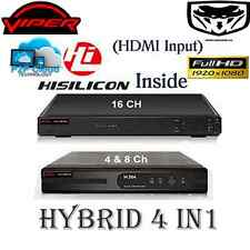 Viper Pro DVR CCTV Recorder 4 channels 8,16 ch H264 Hard Drive HDMI Hybrid High