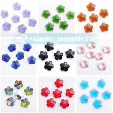 10/50pcs 14x7mm Findings Crystal Glass Faceted Loose Spacer Teardrop Beads Drops