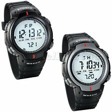 Casual Men LED Digital Date Sport Rubber Electronic Wrist Watch Alarm Waterproof