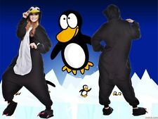 Kigurumi Pajamas Unisex Adult Cosplay Costume Anime Onesie Black penguin