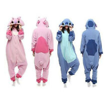 PINK BLUE Stitch Unisex Adult Pajamas Kigurumi Cosplay Costume Animal Onesie