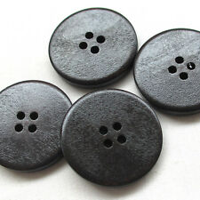 20/100pcs 30mm Big Black Wood Wooden Button 4 Holes Craft Clothe Sewing