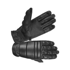 Hugger Police Riot Gloves Fireproof Leather Military Training Assault Motorcycle