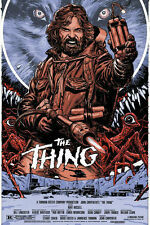 The Thing (1982) John Carpenter Cult Horror Movie Single-Sided Silk Poster New