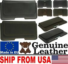 # CHIC HORIZONTAL GENUINE LEATHER BELT LOOP HOLSTER POUCH CASE FOR MOBILE PHONES