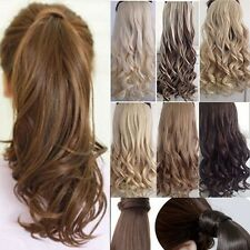 US sale blonde Clip In Hair Extension Pony Tail Wrap Around Ponytail as remy G15