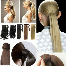 Long Ponytail, Wrap Around, Clip In Ponytail Hair Extensions, curly straight,lkq