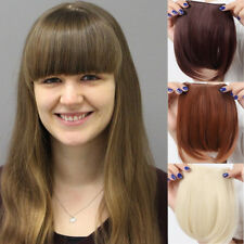 Clip in Bangs Fake Hair Extension False Hair Piece Clip on Front Neat Bang lkm