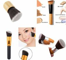Cosmetic Angled Flat Top Brush Face Makeup Foundation Blusher Powder Tool SS