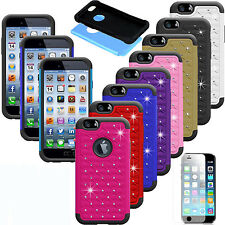Luxury Crystal Rubber Bling Protective Hard Case Cover For Apple iPhone Models