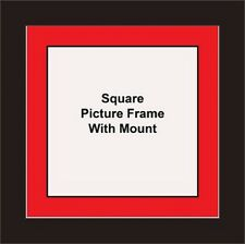 NEW Square Picture Frame - Red Mount Made in UK Best and Unique Photo Frames
