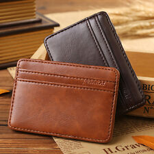 New #I Luxury Magic Wallet Money Clip Credit Card Holder ID Business Men leather