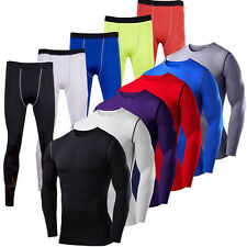 Mens Compression Shirt Under Armour Base Layer Running Pants Joggers Trousers
