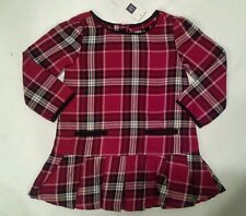 Baby GAP Red Plaid Cotton Dress Holiday  Christmas 12-18 or 18-24 Months