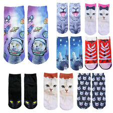 Ankle Socks Animal Cute Cat Hot Women 3D Fashion Printed New Casual Socks
