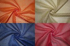 "Heavy Athletic Sports Mesh Knit 1/8"" Hole Apparel Fabric Polyester BTY 10 Colors"