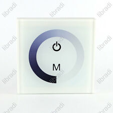 12V 24V 8A LED Touch Panel Controller Dimmer Wall Switch Ring White/Black/Box