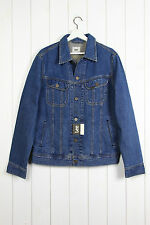 NEW   LEE RIDER DENIM JACKET JEANS  STONE WASH TRUCKER REGULAR FIT S/M/L/XL/XXL