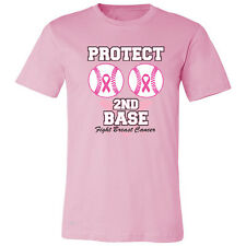 Save The Second Base Protect Second Base Men T-shirt Breast Cancer Awareness
