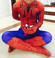 Halloween Marvel Spiderman Outfit Jumpsuit Adult Kids All Size Fancy Costume Cos