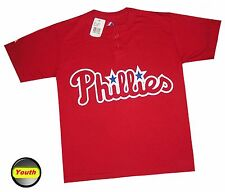 Mlb Youth Apparel - Philadelphia Phillies Majestic Henley Jersey/T-Shirt,new,MED