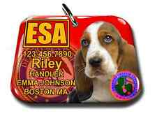 Service Dog Emotional Support Animal pet tag custom badge-tag red ADA