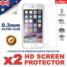 2x Scratch Resist 9H Tempered Glass Screen Protector Guard for Apple iPhone 6s 6