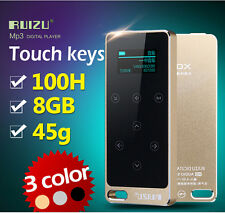 Metal HIFI MP3 Player 8GB Screen Touch button play 100h Lossless sound sport mp3