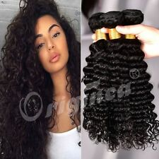 Deep Wave Human Hair Extensions 3 Bundles 300g Peruvian Virgin Hair 8 to 26 Inch