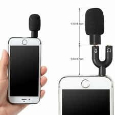 Mini Condenser Microphone Interviewing Recording for Mobile Phone iPhone iPad