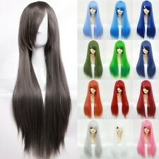S-noilite Short Anime Wigs Black White Red Grey Pink Blue Ghoul Halloween Costum