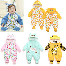 Newborn Baby Winter Outwear Outfits Boy Girls Clothes Romper Cotton Clothes Sets