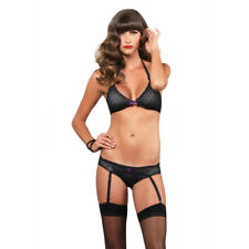 Leg Avenue 2 Piece Polka Dot Bra And Panty Set Black Sexy Lingerie