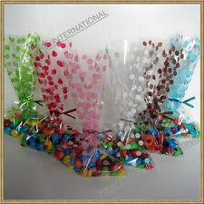 100pcs 5x8 polka dot cello bags