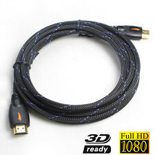 3m HDMI Cable/Cord/Lead V1.4  High Speed 3D 4K HD Audio Ethernet Blue/Black