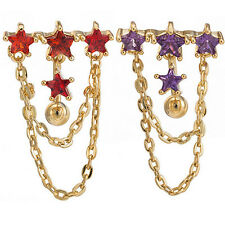 Star Navel Ring Gold Surgical Steel Dangle Belly Piercing Jewelry Hot Trendy
