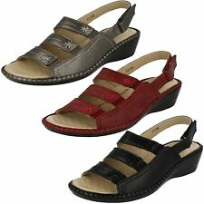 Ladies Eaze F3106 Synthetic Wedge Sling Back Sandals
