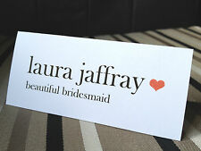 Plain & Simple | Love Heart | Wedding Guest Name Place Settings