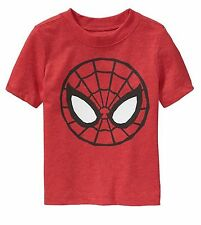 NWT Old Navy Collectabilitees Marvel Spiderman Mask Toddler Shirt 18-24M or 3T