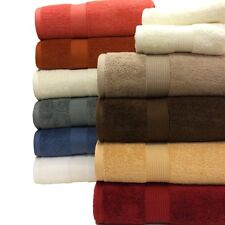 6pc Royal Tradition Luxury Plush Egyptian Cotton Bathroom Towel Set