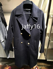 ZARA WOOL DOUBLE BREASTED COAT NAVY BLUE XS-XL REF. 8715/241
